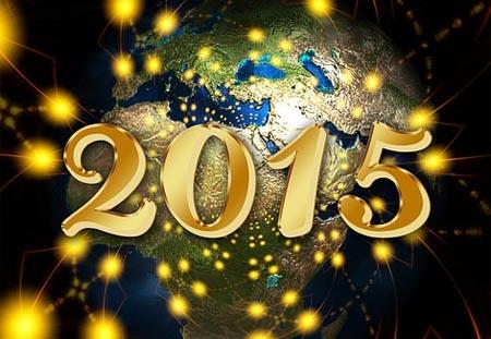 Klassischer Neujahrsgruß für 2015