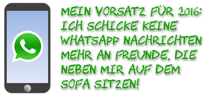 WhatsApp Vorsatz für 2016