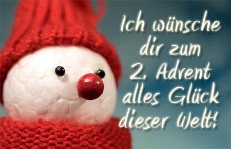 Schneemann wünschen einen schönen 2. Advent