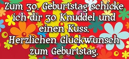 Knuddel zum 30. Geburtstag