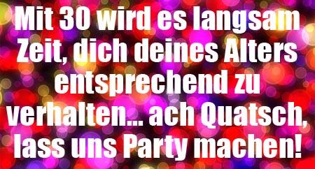 Lass uns Party machen am 30. Geburtstag