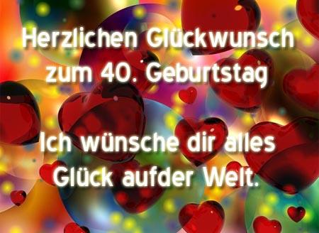Gluckwunsche Zum 40 Geburtstag Frau Kostenlos Ek