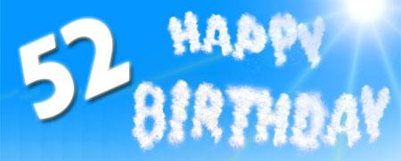52 Geburtstag Glückwünsche