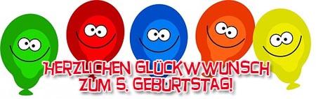 5 Geburtstag Gluckwunsche