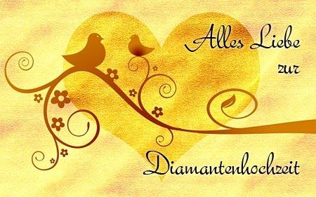 Alles Liebe zur Diamantenhochzeit