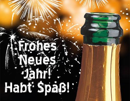 Champagner auf  Facebook zum neuen Jahr