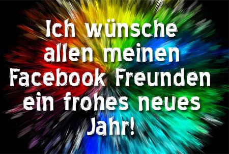 Facebook Freunden ein frohes neues Jahr wünschen