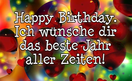 Viel Spaß an deinem Geburtstag!