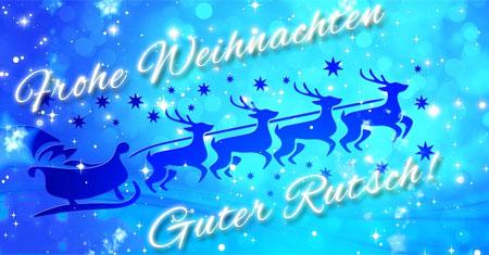Rentier Schlitten wünsche frohe Weihnachten