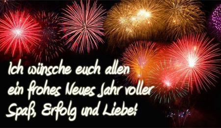 Viel Glück und Erfolg und Spaß und Liebe zum neuen Jahr