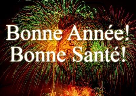 Viel Gesundheit im neuen Jahr auf Französisch