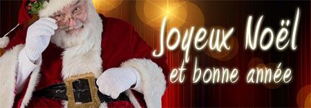 Weihnachtsmann als französischer Weihnachtsgruß für Facebook