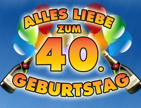 Sekt und Ballons zum 40. Geburtstag