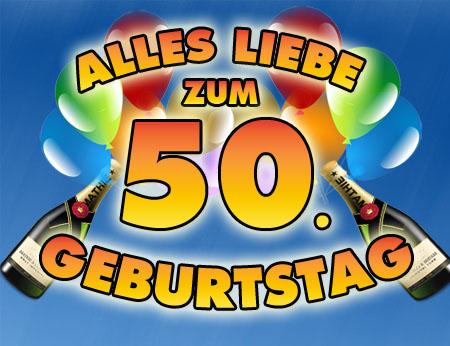 50. Geburtstag mit Ballons und Champagner