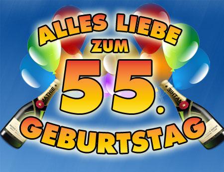 Viel Spaß zum 55. Geburtstag wünschen