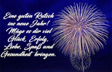 Glück und Erfolg im neuen Jahr wünschen