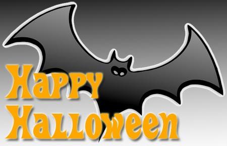 Fledermaus mit Halloween Grüßen