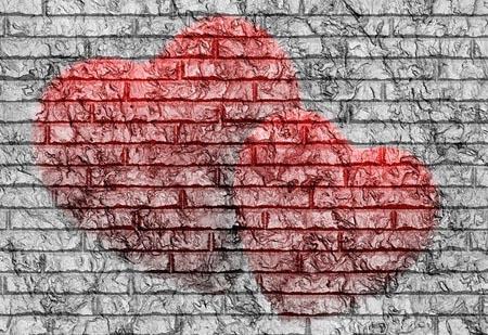 Eine Mauer mit Herz