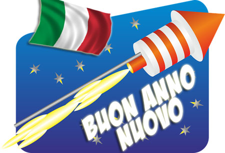 Feuerwerksrakete bringt Grüße nach Italien