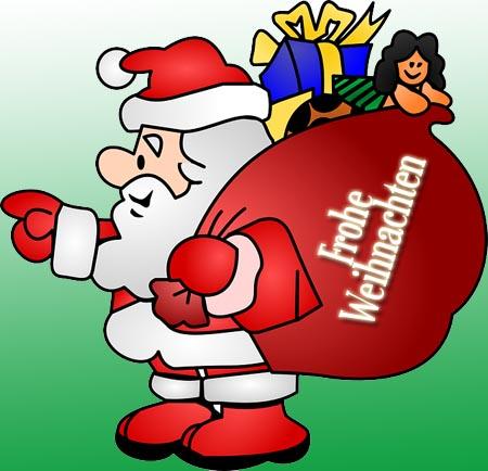 Weihnachtswünsche mit Weihnachtsmann