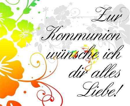 Alles Liebe zur Kommunion Bild