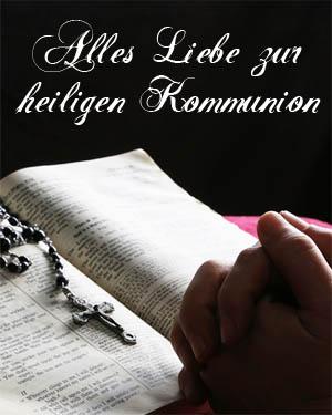 Betende Hände zur Kommunion