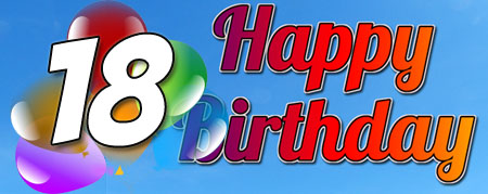 Lustiger Glückwunsch zum 18. Geburtstag