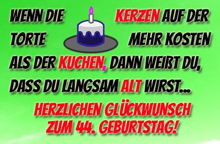 Witzige Geburtstagswünsche für alle, die 44 Jahre alt werden