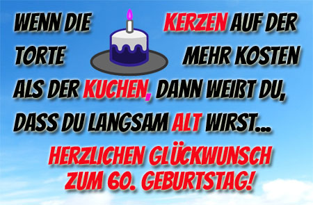 Lustige Glückwünsche für Facebook zum 60. Geburtstag