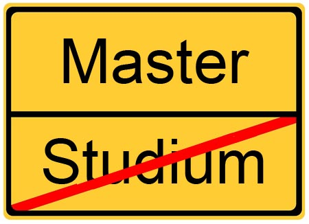 Viel Glück zur Master Abschluss
