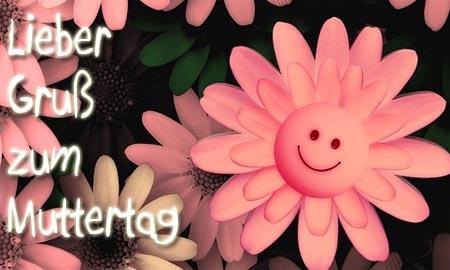 Blume mit Smilie als Gute Laune Bringer zum Muttertag