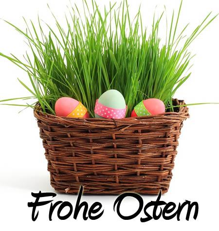 Osternest als Facebook Bild zu Ostern