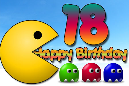 Pac Man als Happy Birthday zum 18ten für Nerds