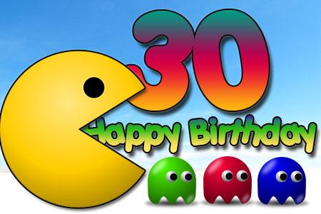 Pac Man mit Gratulation zum 30ten