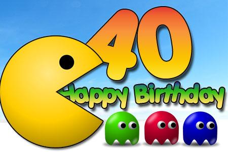 Glückwünsche zum 40. Geburtstag für Computerspiele Nerds