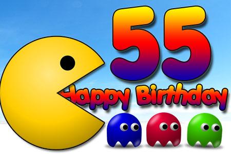 Videospiel Glückwünsche zum 55. Geburtstag
