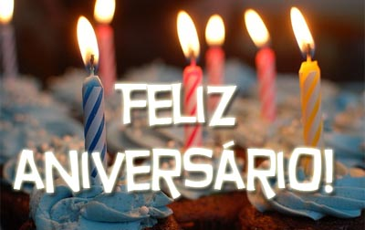 Geburtstagstorte mit portugiesischem Spruch zum Geburtstag