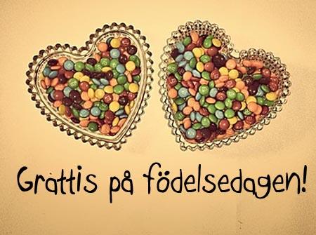 Süßer Gruß zum Geburtstag auf Schwedische