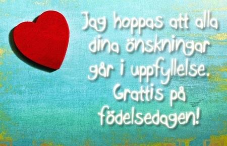 Schwedischer Spruch zum Geburtstag