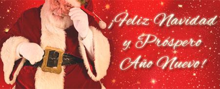 Frohe Weihnachten und einen guten Rutsch ins neue Jahr auf Spanisch