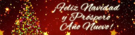 Viele Lichter zu Weihnachten wünsche ein frohes Fest auf Spanisch