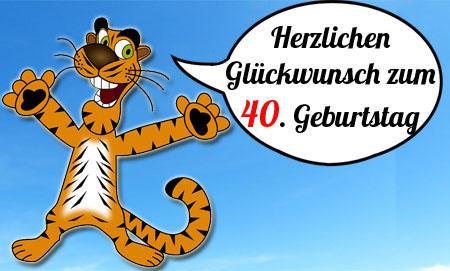 Comic Tiger gratuliert zum 40. Geburtstag
