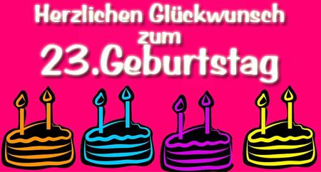 WhatsApp Glückwünsche zum 23. Geburtstag