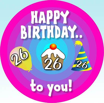 WhatsApp Glückwünsche zum 26. Geburtstag