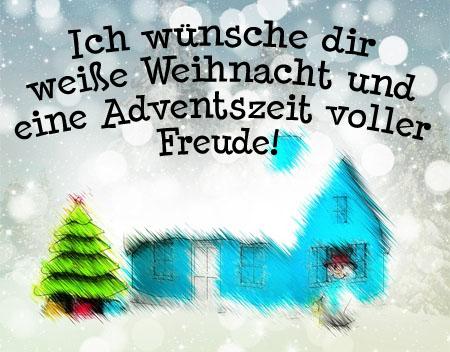 Weiße Weihnacht und einen schönen Advent