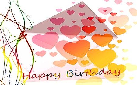 Happy Birthday mit viel Liebe
