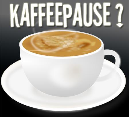 Einladung zur Kaffeepause für Arbeitskollegen