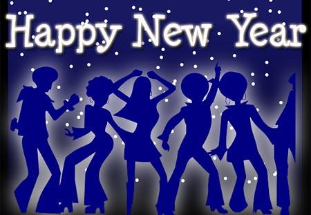 Frohes neues Jahr mit Tanzen
