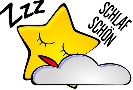 Ein schlafender Stern als Gute Nacht Gruß