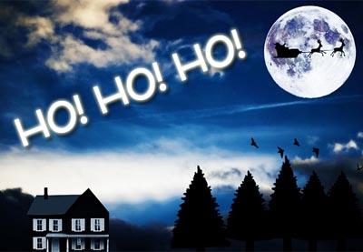 Witzige Weihnachtswünsche mit Schlitten